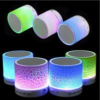 Wholesale Portable Mini LED Bluetooth Speakers Wireless Small Music Audio TF USB FM Light Stereo Sound Speaker For Phone Bluetooth with Mic