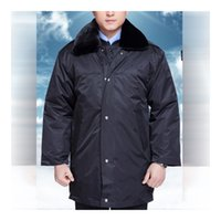 anti dust coating - Lstest Version Thick Warm Multi function Cotton Coat Security Personnel Overall Superior Fabric Anti dust Five Size Navy Color Cotton