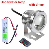 Wholesale Promotion Sale w v Colors Rgb Led Underwater Light lm Waterproof Ip68 Fountain Pool Lamp Lighting with Driver