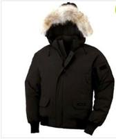 Wholesale free Canada Men Winter Waterproof Breathable Overcoat Timeless Jacket Fur wolf collar Down jacket Parka Men s