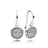 Wholesale Vintage Dazzling Droplets Clear CZ Hoop Earrings For Women CZ