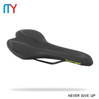 Wholesale 2017 New Bicycle Cycling Saddles Pro Leather Seat Saddle Shockproof Soft Cushion Steel Rails For Mountain Road BMX Bike