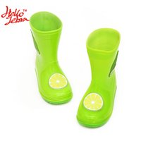 Wholesale Kids Fruit Rain Boots Cute Boys Girls Baby Candy Color with Lemon Apple Banana Waterproof Shoes New kinderen regenlaarzen Sweet Fruits