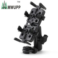 assembly long - Mwupp Metal Motorcycle Phone Holder Assembly U Clip Bicycle GPS Stand Mount Stand for Long Cycling Travel Support Charging