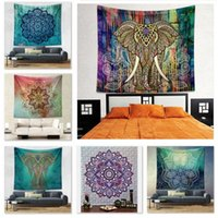 Wholesale 20 Designs cm Bohemian Mandala Beach Tapestry Hippie Throw Yoga Mat Towel Indian Polyester Beach Shawl Bath Towel B1078