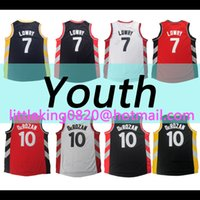 Wholesale New Youth kid Demar DeRozan Jersey Red white black Kyle Lowry jersey Embroidery Stitched Vince Carter Jersey