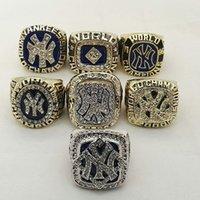 Compra Championship ring-Nueva York 1977 1978 1996 1998 1999 2000 2009 7 Piezas fijaron los anillos del campeonato del mundo de la aleación de los yanquis