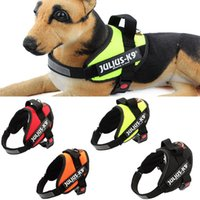 Wholesale Adjustable Nylon Dog Collar Harness with Handle and Reflective Julius K9 Patches Perfect for control and training