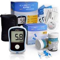 Wholesale CE Blood Glucose Meters Monitor Diabetics Test glycuresis Monitor blood Sugar Glucometer medidor de glicose strips Needles