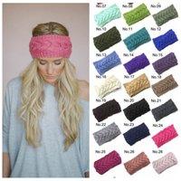 Wholesale Girls Crochet Headband Knit Hairband Flower Hairband Winter Women Lady Charm Wrap Ear Warmer Head Wrap Fashion Band Hair Accessories F233