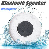 Wholesale Portable Subwoofer Shower Waterproof Wireless Bluetooth Speaker Car Handsfree Receive Call Music Suction Mic For IPhone Samsung With box