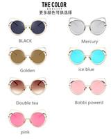 achat en gros de super grosses lunettes de soleil-Super grande texture de diamant coloré Lunettes de soleil pour chat Lunettes de soleil de lunettes de soleil de mode de rue vente en gros 2017 Livraison gratuite