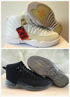 Wholesale 2017 air retro XII basketball shoes ovo white Flu Game GS Barons wolf grey Gym red taxi playoffs gamma french blue sneakers