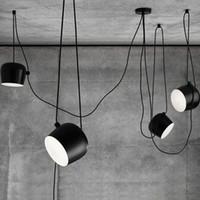 aluminium pendant lights - LED Lights Aluminium Flos Aim White Black E27 Pendant Lamp Lights LED Bulb Grow Lights Bar Living Room Droplight Lighting Chandeliers Light