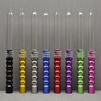 Wholesale Aluminum Glass Stem Hookah Hose Shisha ChiCha Pipe Tube Shisha Hooka Accessories