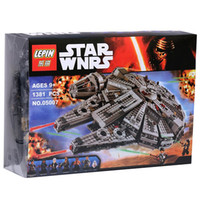 Wholesale Millennium Falcon set Building Blocks Star Wars The Force Awakens Model Kits Rey BB MiniFigures box