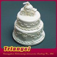 Las torta de cumpleaños blancas de calidad superior del favor del favor de la boda del envío libre venden para la decoración 20pcs / lot de la fiesta de Navidad del cumpleaños de la boda
