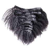 Wholesale Brazilian Virgin Hair African American Clip in Human Hair Extensions g Afro Kinky Clip in Extensions