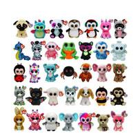 Wholesale Ty Beanie Boos Plush Stuffed Toys cm Big Eyes Animals Soft Dolls for Kids Birthday Gifts ty toys K8205 BJ