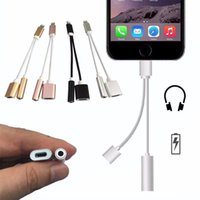 Wholesale 2in Charging Audio Adapter For iPhone7 Plus MM Headphone Headset Jack Charger Earphone Cable for iPhone S plus