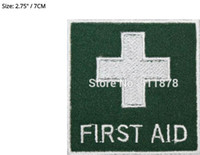 aids badge - Medical Green First Aid Badge Movie TV Show Series Costume Embroidered iron on sew On patch Tshirt TRANSFER MOTIF APPLIQUE