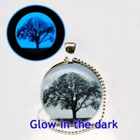 big animals photos - Glowing Big Tree Necklace Glow in the dark Oak Pendant Necklace Tree of Life Art Photo Glass Glowing Jewelry Glowing Necklace