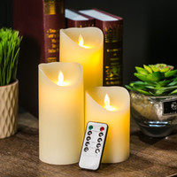 Wholesale LED Electronic Flameless Candle Lights Remote Control Flame Flashing Luminara battery operated Candle Lamps Household Decoration