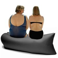 NOVO 7 design saco de dormir inflável de ar rápido Hangout espreguiçadeira sofá de acampamento portátil praia de nylon cama tecido de dormir LJJH1465