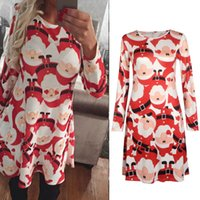 adult graphics - Women Snowflake Print A Line Short Dress Santa Claus Pattern Graphic Casual Skater Dresses Long Sleeve Christmas Party Date Outfit