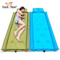Venta al por mayor-Trackman sola persona colchón inflable cojines estera alfombra para dormir estera de picnic ir de excursión montar en bicicleta alfombra de camping al aire libre