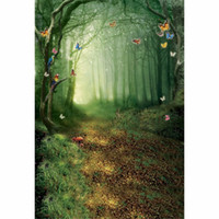 100% new background forest - 3x5ft x7ft x10ft x10ft Butterfly Fairy Tale Forest Scenic Retro Children Photography Backdrops Photo Background Studio Props Customized