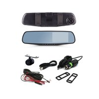 Wholesale Full HD P Car Dvr Camera Degree Angle Inch Rearview Mirror Digital Video Recorder Dual Lens Registrar Camcorder