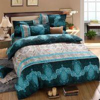 Wholesale 4pcs set D Reactive Printed Bedding Set Bedclothes Suit Queen Size Duvet Cover Bed Sheet Pillowcases Home Textiles
