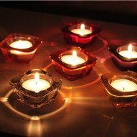 Wholesale Cute cm Simple Style Color Glass Candle Holder Tealight Holder Wedding Decor Home Decoration DEC231