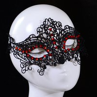 Wholesale Woman Girl Lace Halloween Masquerade Venetian Party Half Face Mask Lily Woman Lady Sexy Mask Christmas