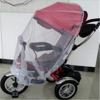 Wholesale Mosquito Net Fashion Hot White Baby Children crib netting Buggy Pram Pushchair Fly Midge Insect Bug Cover Stroller Protector DHL Free