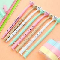 Wholesale mm Cute Candy Color Bow Cat Gel Ink Pen Maker Pen School Office Supply Escolar Papelaria