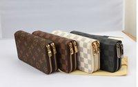 Wholesale WOMEN MEN DOUBLE ZIPPER WALLETS PURSES LOUIS BAGS