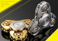 EDC CKF Fidget Spinner Handspinner Hand Spinner dedo descompresión ansiedad metal de acero de rodamiento de bolas Metal zinc aleación jalea juguetes DHL