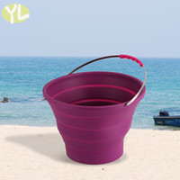 barrel water garden - Outdoor gears eco friendly silicone bucket high quality heat resistant water barrel fashion green silica gel buckets for home garden use