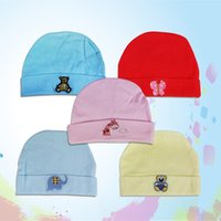 Wholesale piece Solid color Baby Boy Girl Cotton Hat Including baby gloves Foot cover Three piece no2