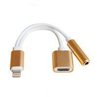 Wholesale 2in1 Adapter For iPhone7 Plus s Plus sPlus Earphone Converter Cable mm Jack Lighting Connector For iPhone Plus in Charging
