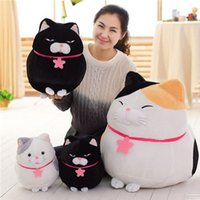 al por mayor japón gato animado-Fancytrader Big Fat Cat felpa juguete gigante rellena de Japón Anime AMUSE muñeca de gatos para niños