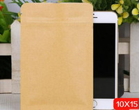 Wholesale 6cm cm Kraft paper packaging bag Flat KRAFT bag food packing tea packing with Aluminum foil mater inner NO bottom