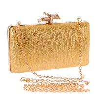 bark frame - Small Mini Hand Bag Women Shoulder Bags Gold Clutch Ladies Tide Tree Bark Pu Leather Fashion Banquet Dinner Purses and Handbag