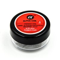 for tank alpha pack - ALPHA COIL ohm PREBUILT COIL KERNEL A1 WRAPPED A1 Trident coil ohm pack