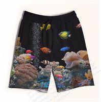 aquarium making - Real USA size aquarium D Sublimation Print Custom made Fifth Seventh Shorts with String