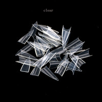 Wholesale 500Pcs Pointed Nail Art Tips Clear Natural White Full Nail Tips Practical Manicure Accessories Stilettos Shar Nail Art