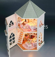 Wholesale Dollhouse DIY Kit Toys for Children Wooden Miniature Doll House With Furnitures Assembling Scale Model Puzzle for New Year Gift