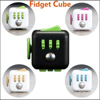 Wholesale 2016 New Arrival Fidget Toys Cube Funny Sided Desk Toy Fidget Cube Squeeze Stress Reliever Toy Christmas Gifts With Retail Package